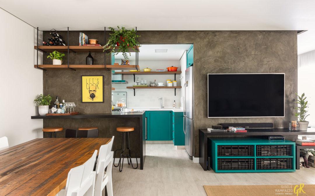 Apartamento une decoração moderna e prática